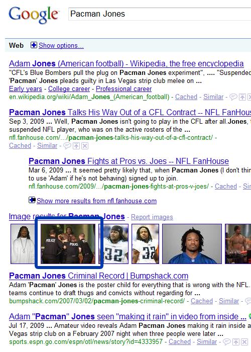 pacman-jones-google-results